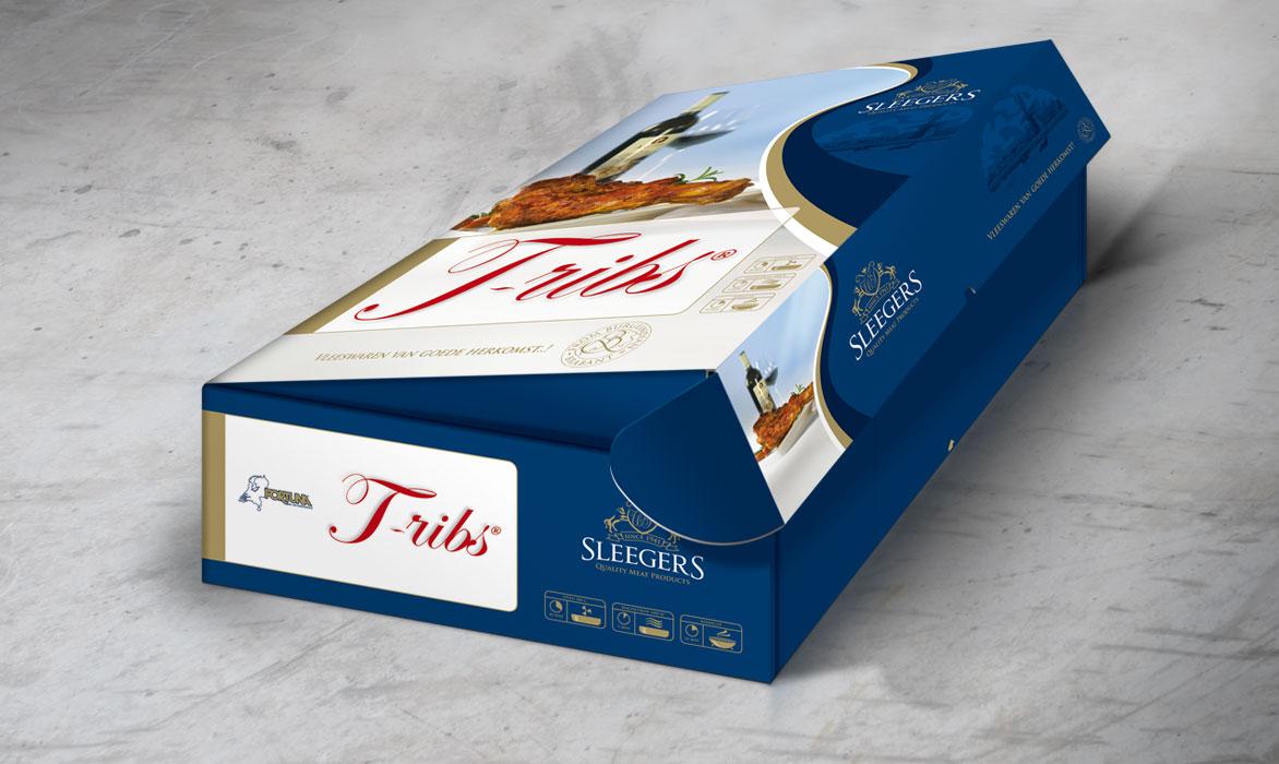 Ontwerp verpakking Sleegers T-Ribs - Comcorde+