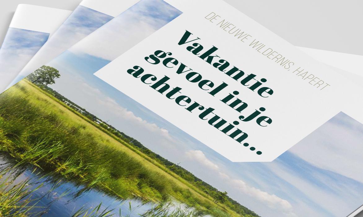 Brochure 'De Nieuwe Wildernis' Hapert