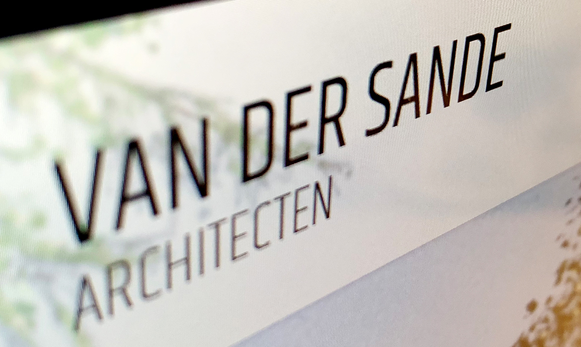 Website van der Sande architecten