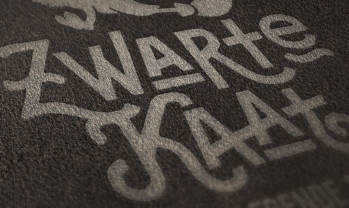 Logo Zwarte Kaat – Streeklegende Bladel